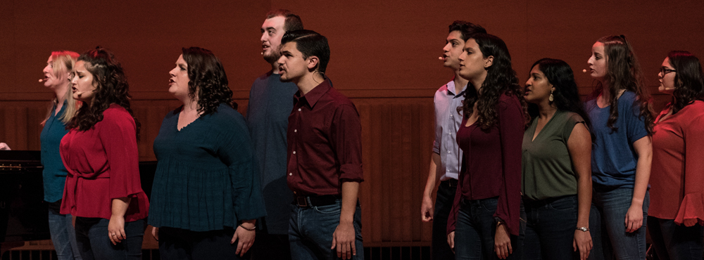 Photo of students in previous Best of Broadway production